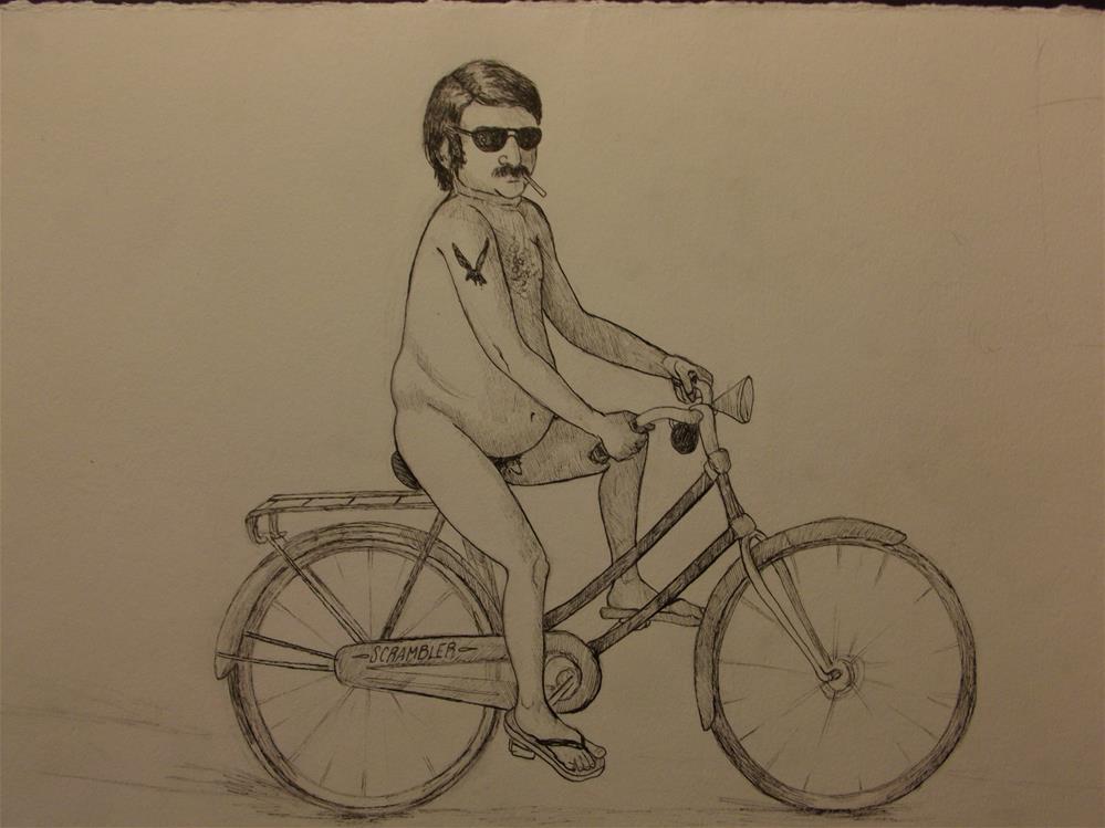 """""""An American Man, Nude, No. 72"""" original fine art by wanda sigafus"""