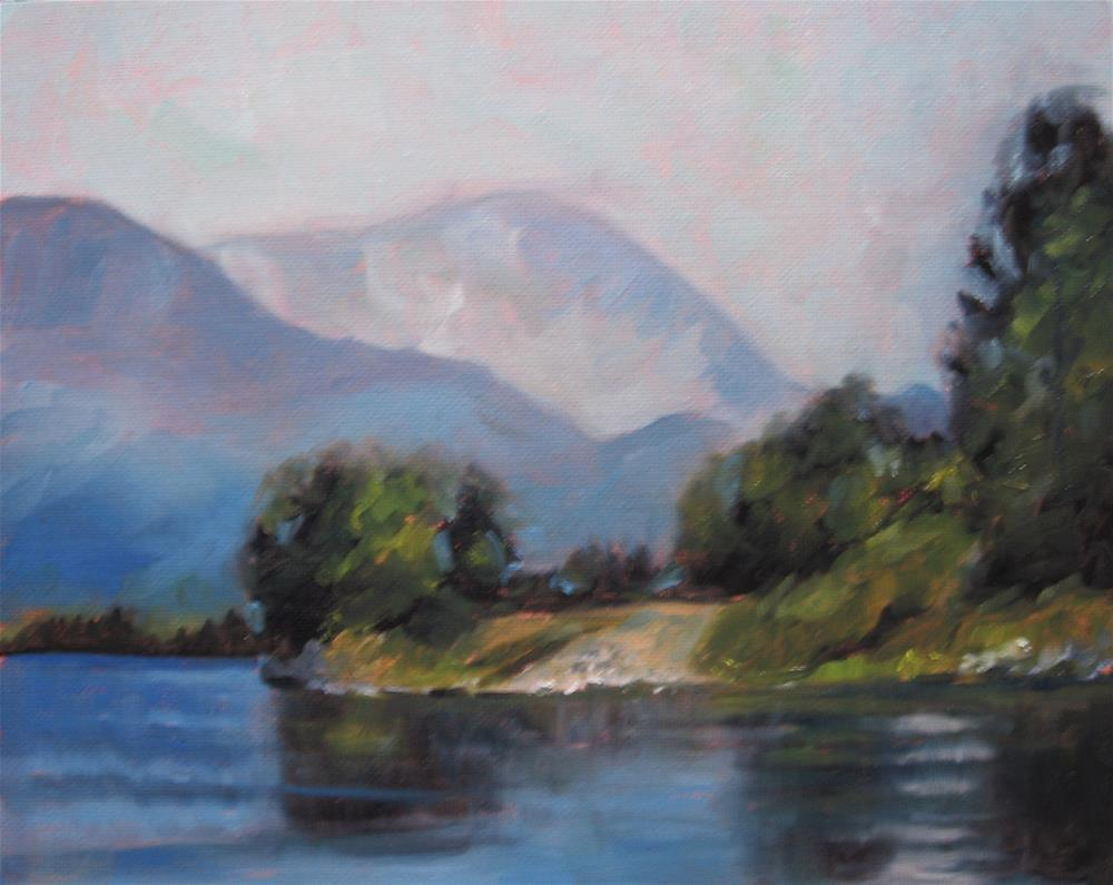 """8 x 10 inch oil Coastal Inlet #1"" original fine art by Linda Yurgensen"