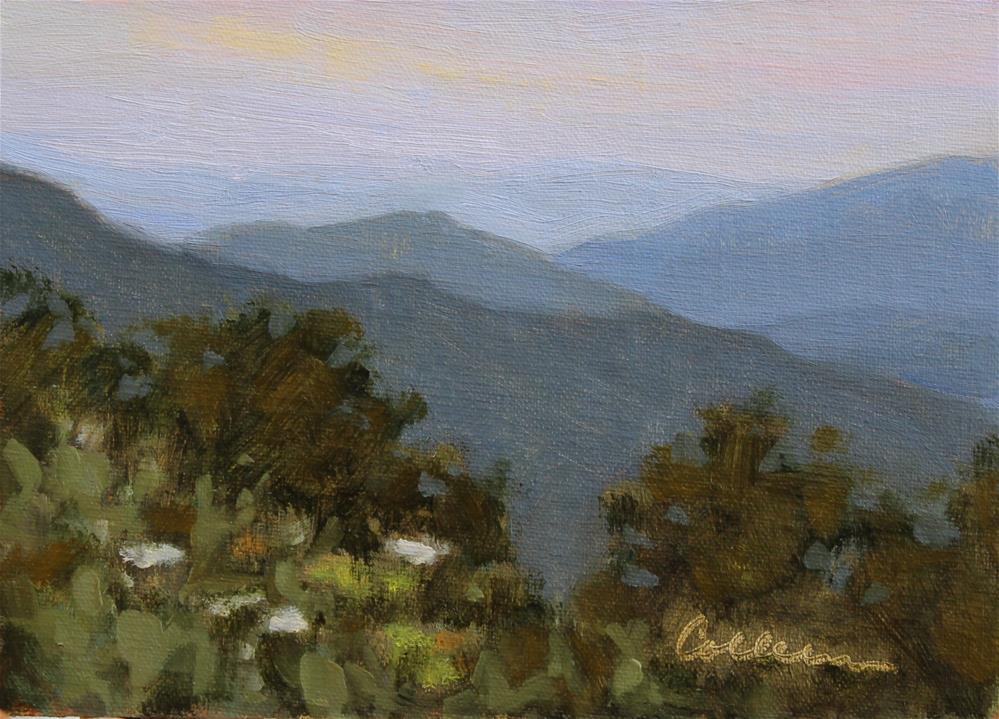 """Skyline Drive Overlook #2"" original fine art by Colleen Parker"
