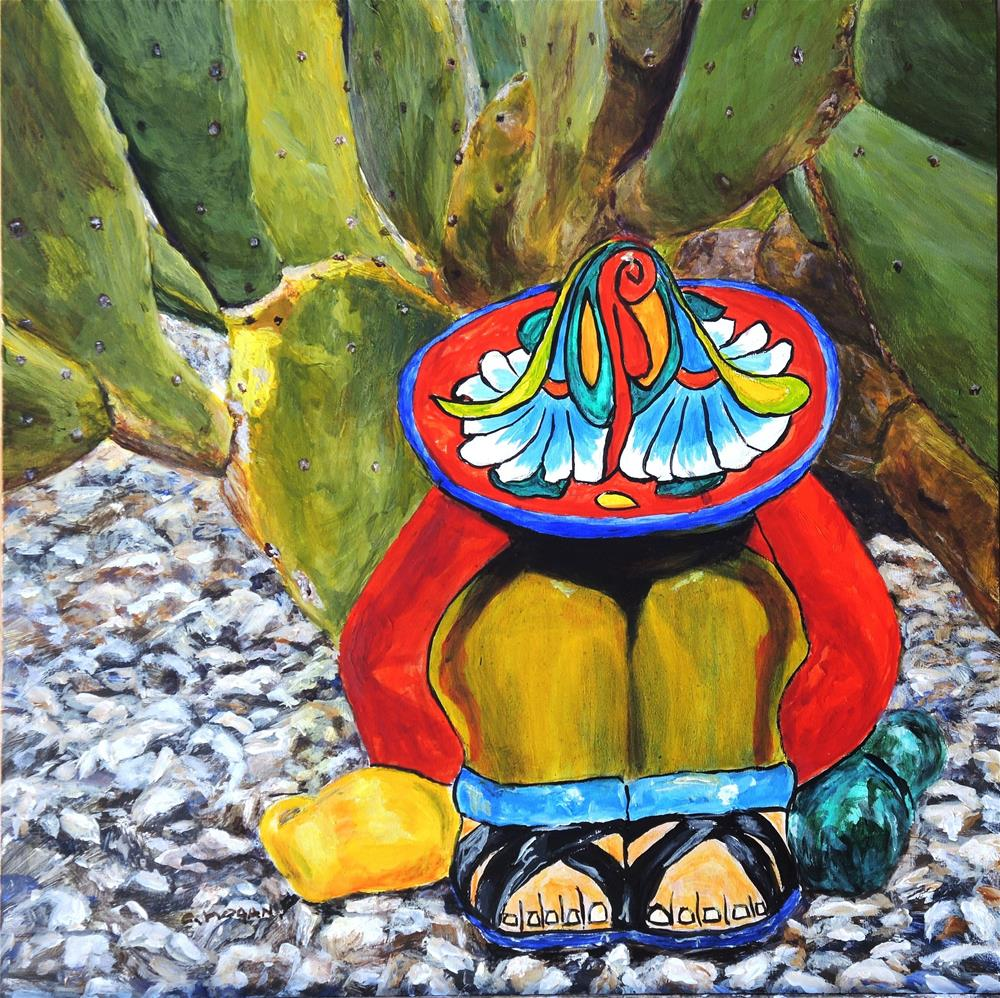 """Siesta by the Thornless Prickly Pear"" original fine art by Candi Hogan"
