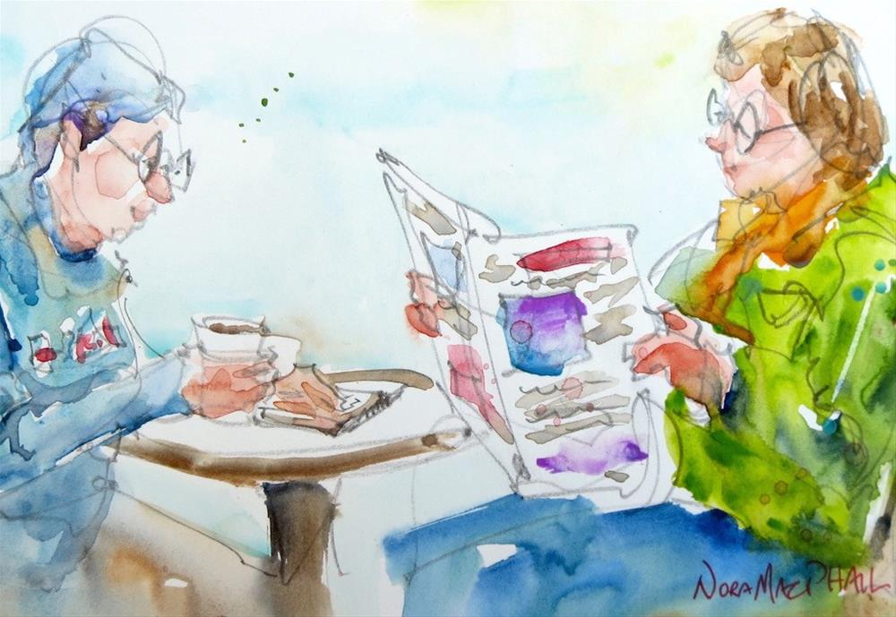 """reading material"" original fine art by Nora MacPhail"