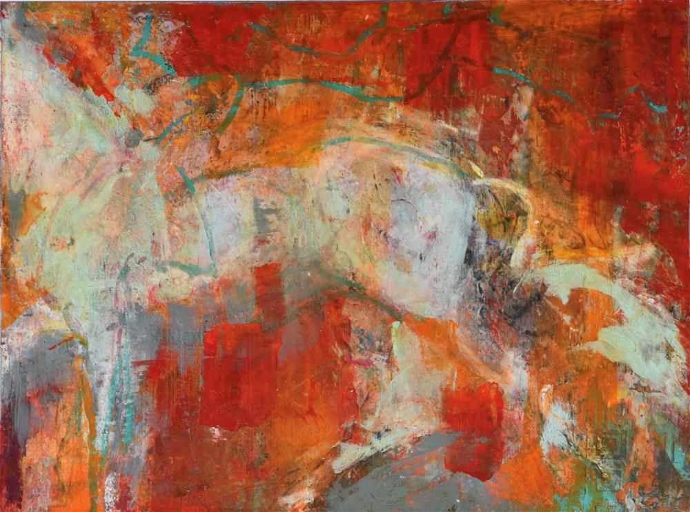 """""""Accelerate #2"""" original fine art by Jennifer Pratt"""