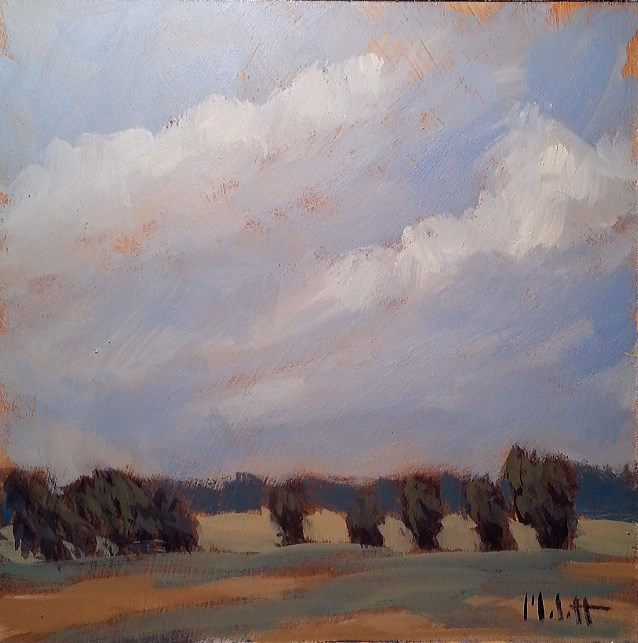 """Autumn Landscape October Wind Original Impressionism"" original fine art by Heidi Malott"
