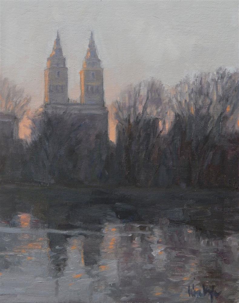 """""""Gold over Central Park"""" original fine art by Lisa Kyle"""