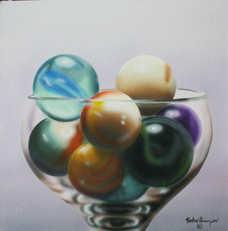 """""""Marbles # 9"""" original fine art by Fred Schollmeyer"""