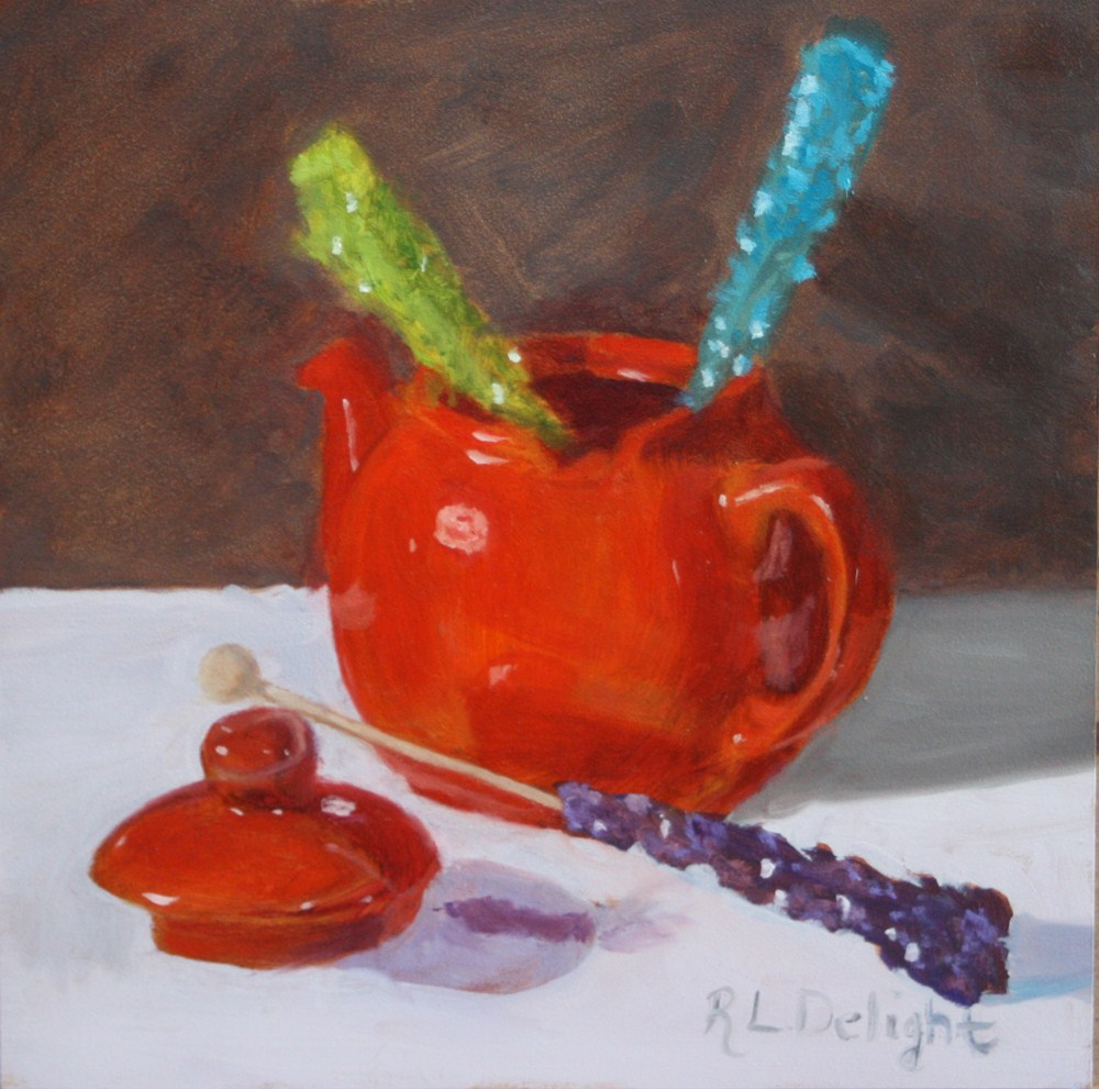 """Sweet Tea"" original fine art by R.L. Delight"