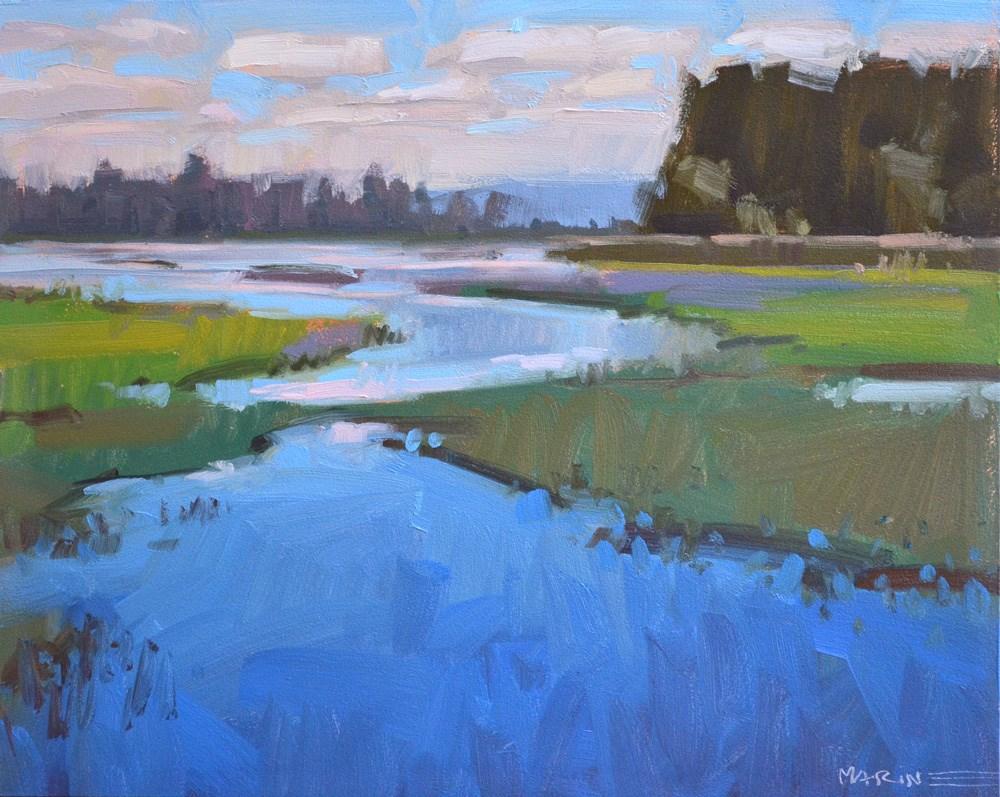 """Where the Frogs Live"" original fine art by Carol Marine"