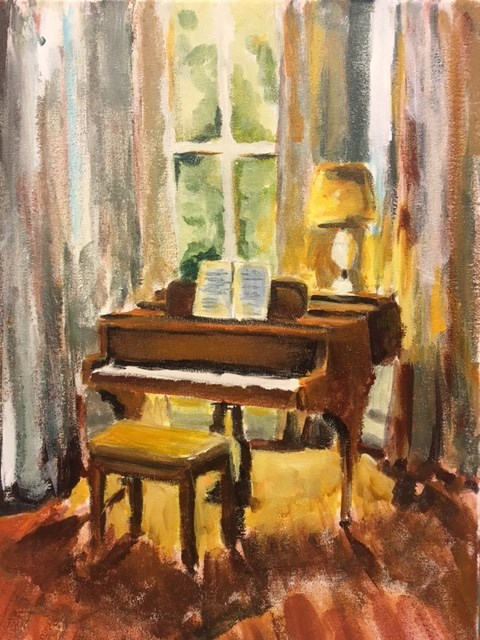 """Baby Grand"" original fine art by Susan Elizabeth Jones"