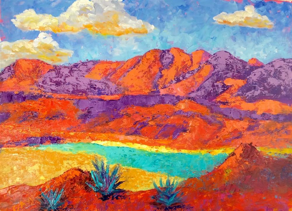 """Backyard View ofJuarez"" original fine art by Phyllis Davis"