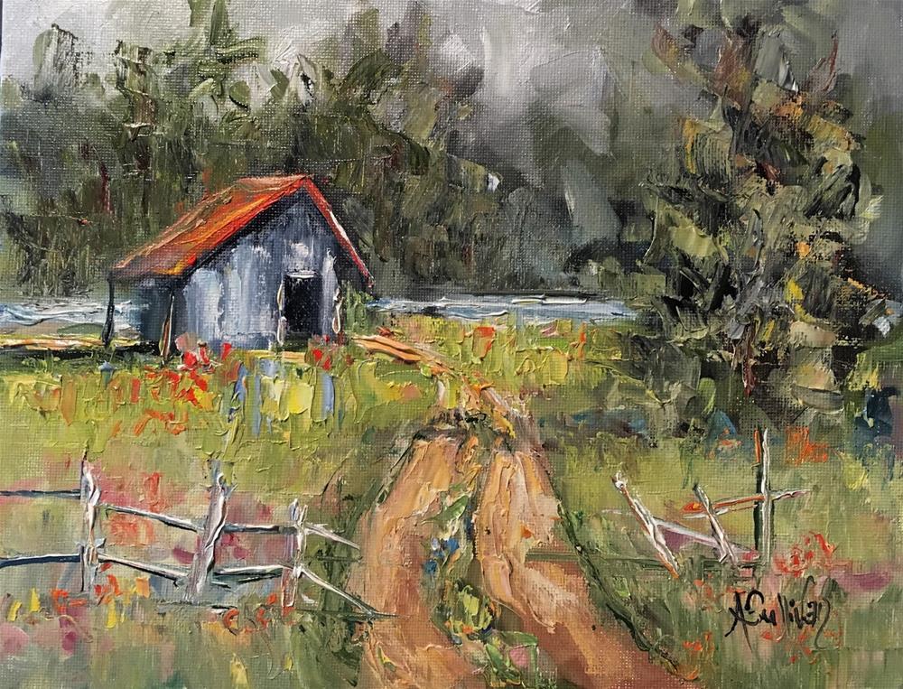 """Where I Grew Up landscape painting by Alabama Artist Angela Sullivan"" original fine art by Angela Sullivan"