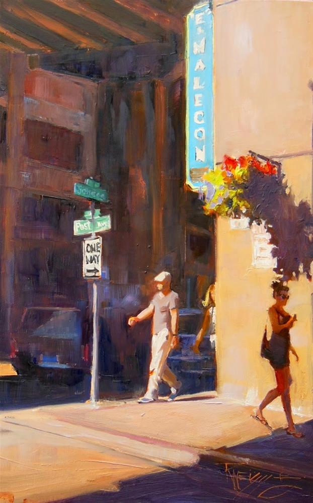 """""""The El Malecon  Seattle, cityscape, oil painting by Robin Weiss"""" original fine art by Robin Weiss"""