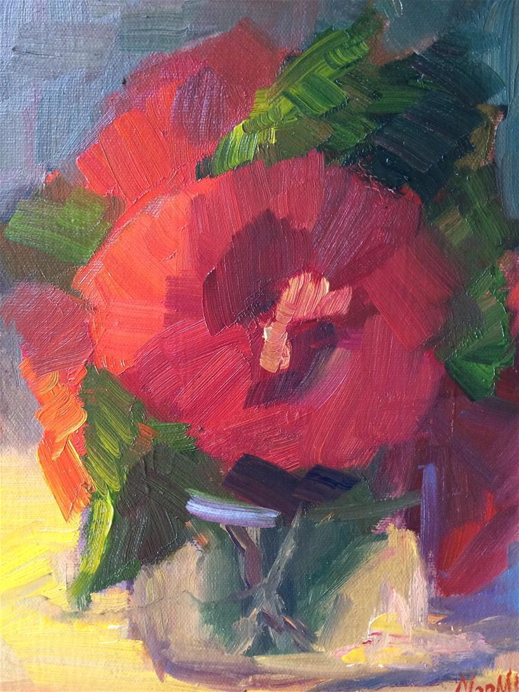 """Red Flowers"" original fine art by Naomi Bautista"