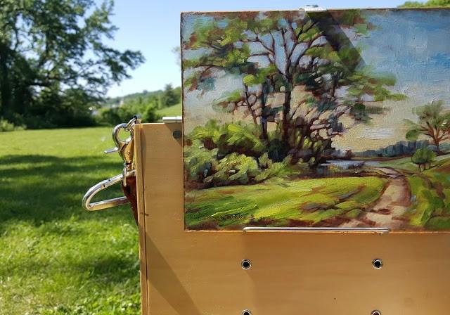 """A Walk in the Park"" original fine art by Tammie Dickerson"