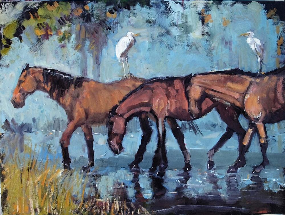 """Ubers"" original fine art by Rick Nilson"