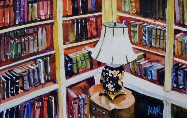 """""""A Quiet Place"""" original fine art by Kathy Los-Rathburn"""