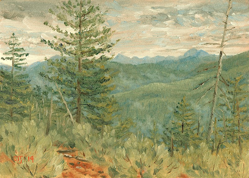 """""""C1575 A Change in the Weather (Above the Middle Fork Smith River,  Siskiyou Mountains, Northern California)"""" original fine art by Steven Thor Johanneson"""