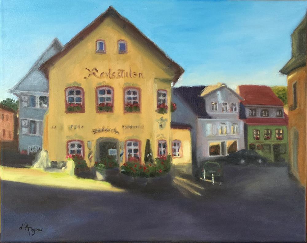 """""""Königstein village"""" original fine art by Karen D'angeac Mihm"""
