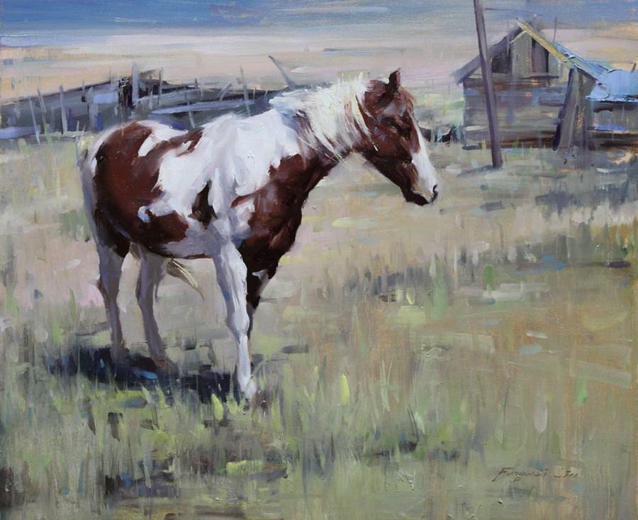 """Southwest Horse"" original fine art by Fongwei Liu"