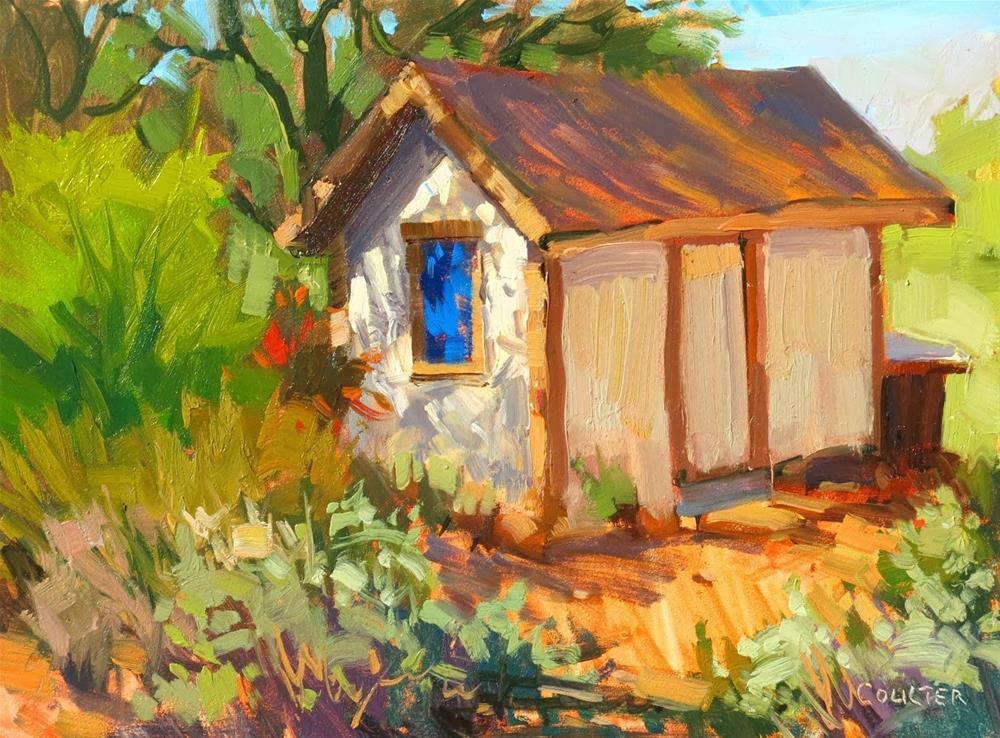 """BLUE WINDOW"" original fine art by James Coulter"