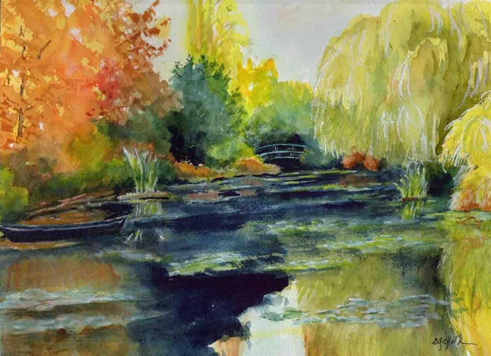 """Monet's Garden"" original fine art by Bunny Griffeth"