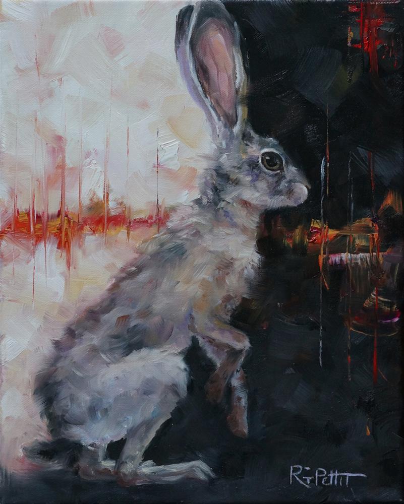 """50 Shades of Gray Hare"" original fine art by Rhea  Groepper Pettit"