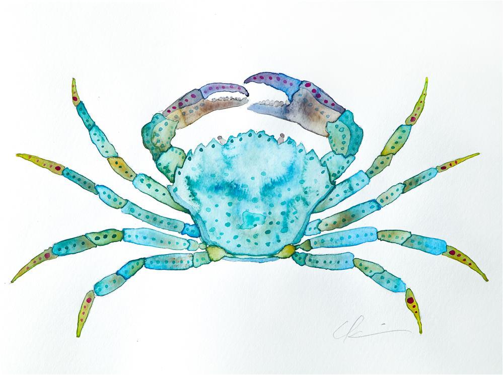 """""""Green Crab"""" original fine art by Clair Hartmann"""