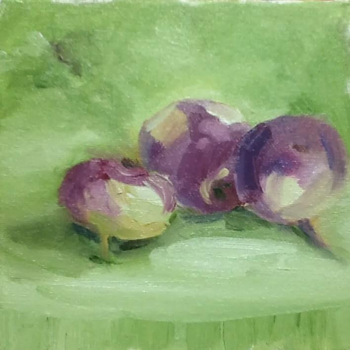 """It Turnips"" original fine art by Peggy Schumm"