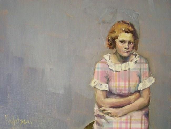 """Plaid Dress"" original fine art by Katie Wilson"