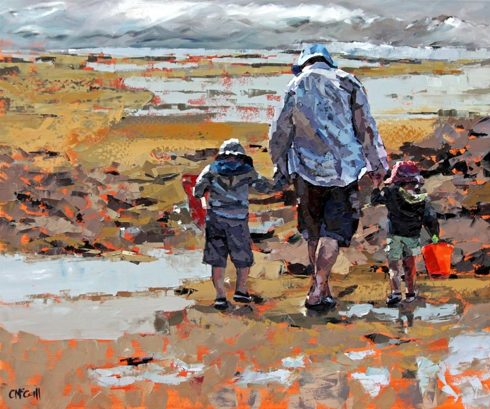 """""""Rockpools"""" original fine art by Claire McCall"""