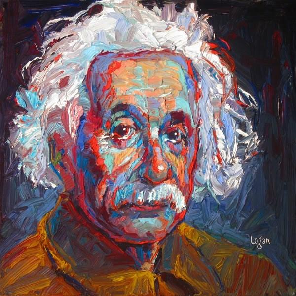 """""""My Little Albert"""" original fine art by Raymond Logan"""