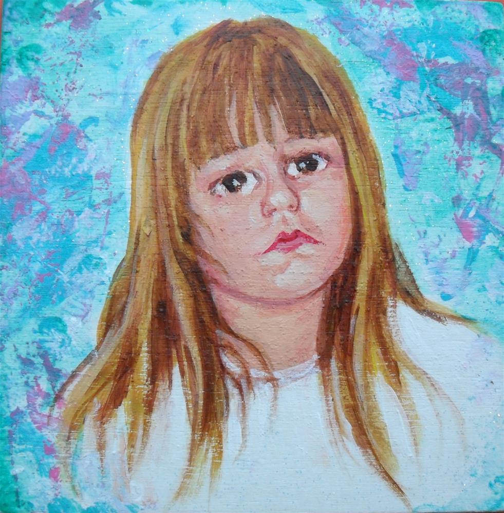 """Tired Girl"" original fine art by Karen Roncari"