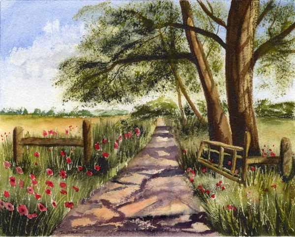 """""""Country Track"""" original fine art by Janet Graham"""