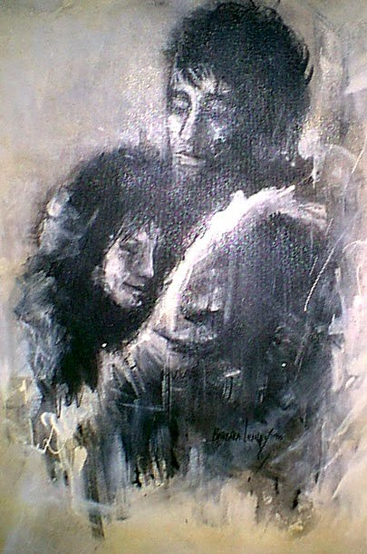 """Lovers"" original fine art by Barbara Lemley"
