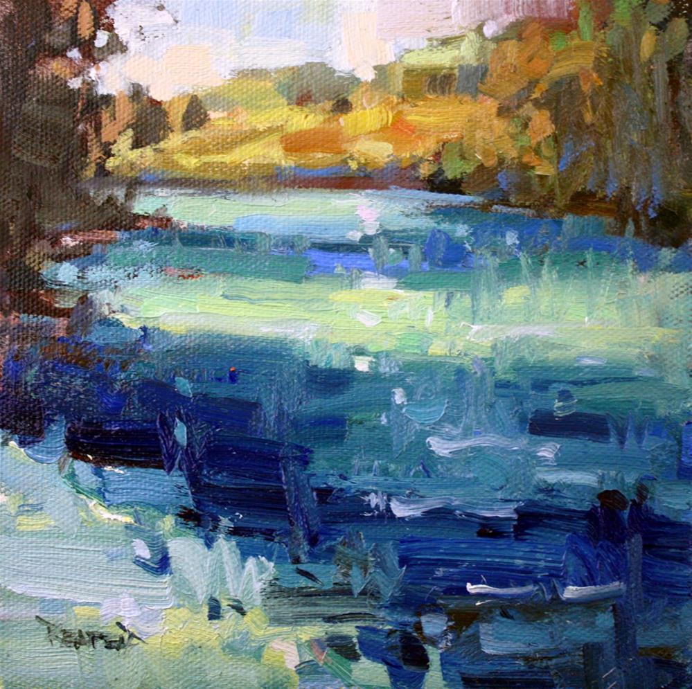 """Morning Light on the River"" original fine art by Cathleen Rehfeld"