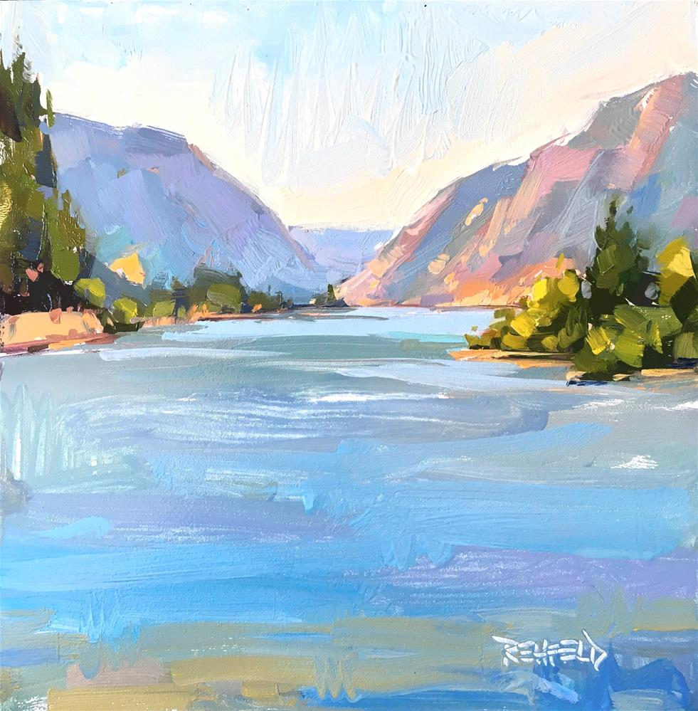"""Summer Day In The Gorge"" original fine art by Cathleen Rehfeld"