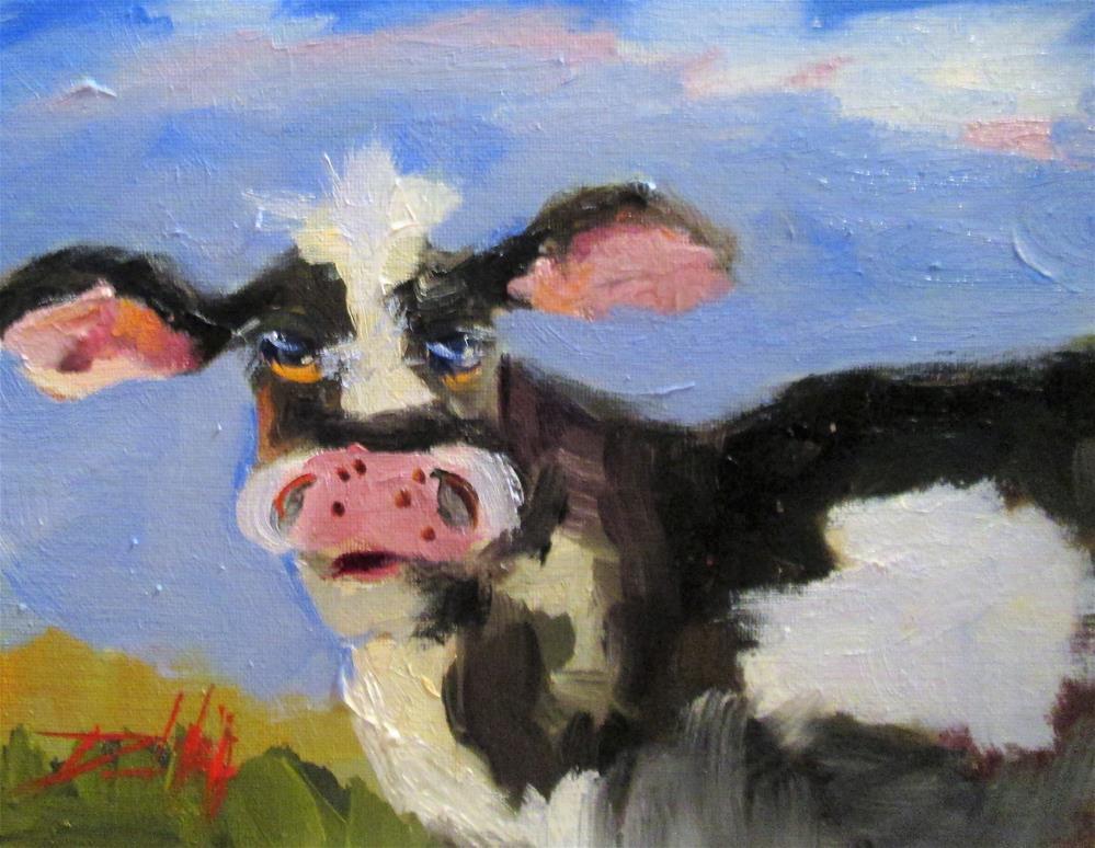 """Farm Cow"" original fine art by Delilah Smith"