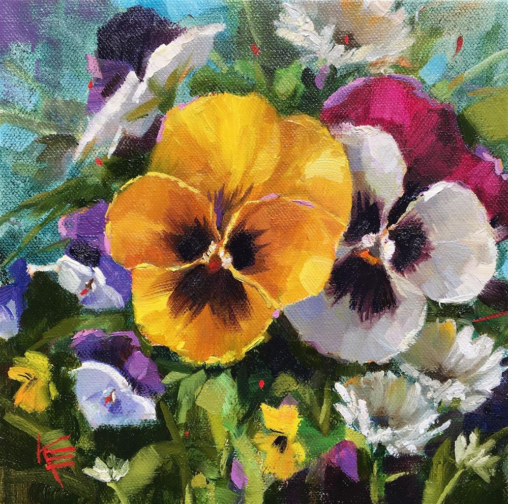 """Cheerful"" original fine art by Krista Eaton"
