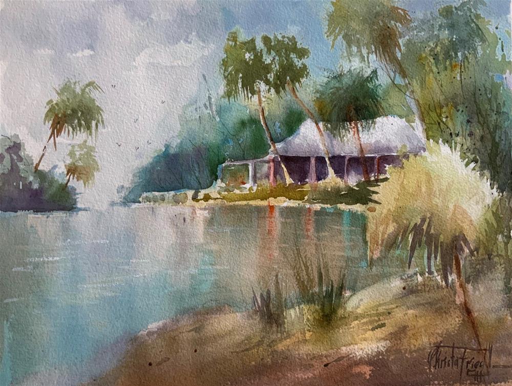 """Snook Haven, Florida"" original fine art by Christa Friedl"