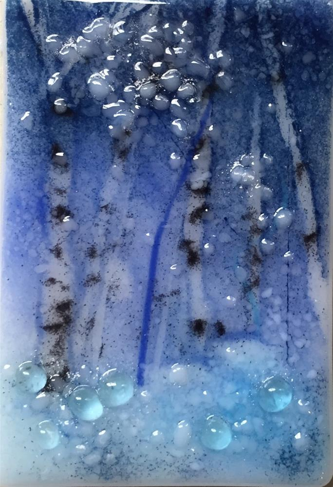 """Deep Blue 1"" original fine art by Kristen Dukat"