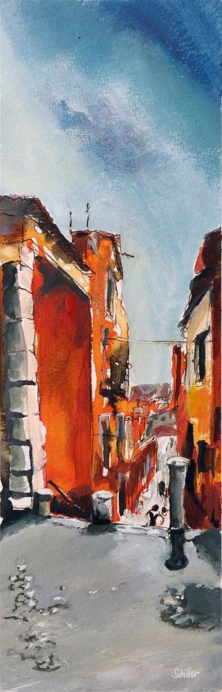 """2405 Streetscene Bairro Alto"" original fine art by Dietmar Stiller"
