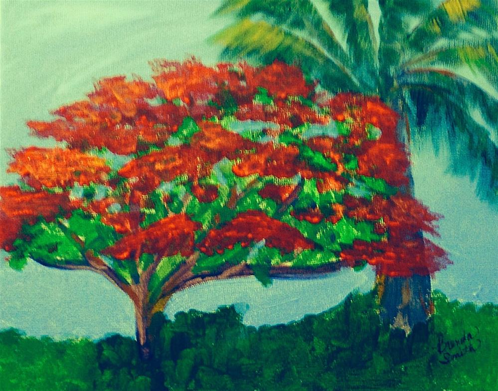 """Trees"" original fine art by Brenda Smith"