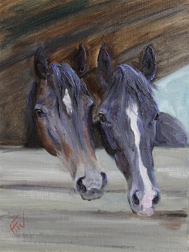 """Bonded Pair"" original fine art by H.F. Wallen"