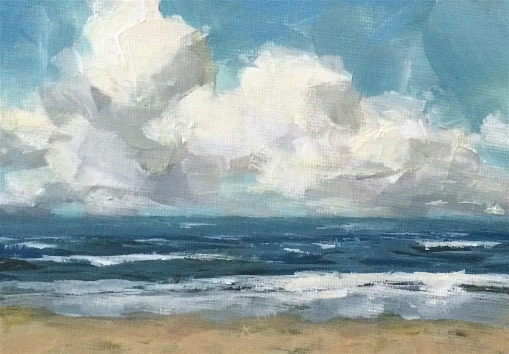 """Sleepy Beach"" original fine art by Shannon Bauer"