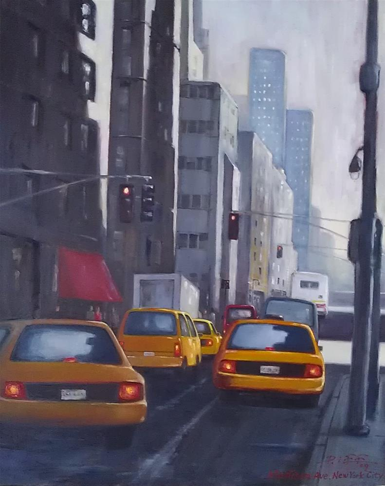 """Madison Ave. NYC"" original fine art by Peter Lee"