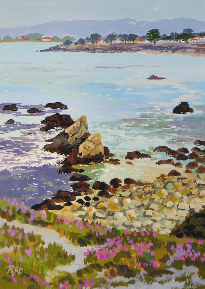 """Twin Rocks, Pacific Grove"" original fine art by Rhett Regina Owings"