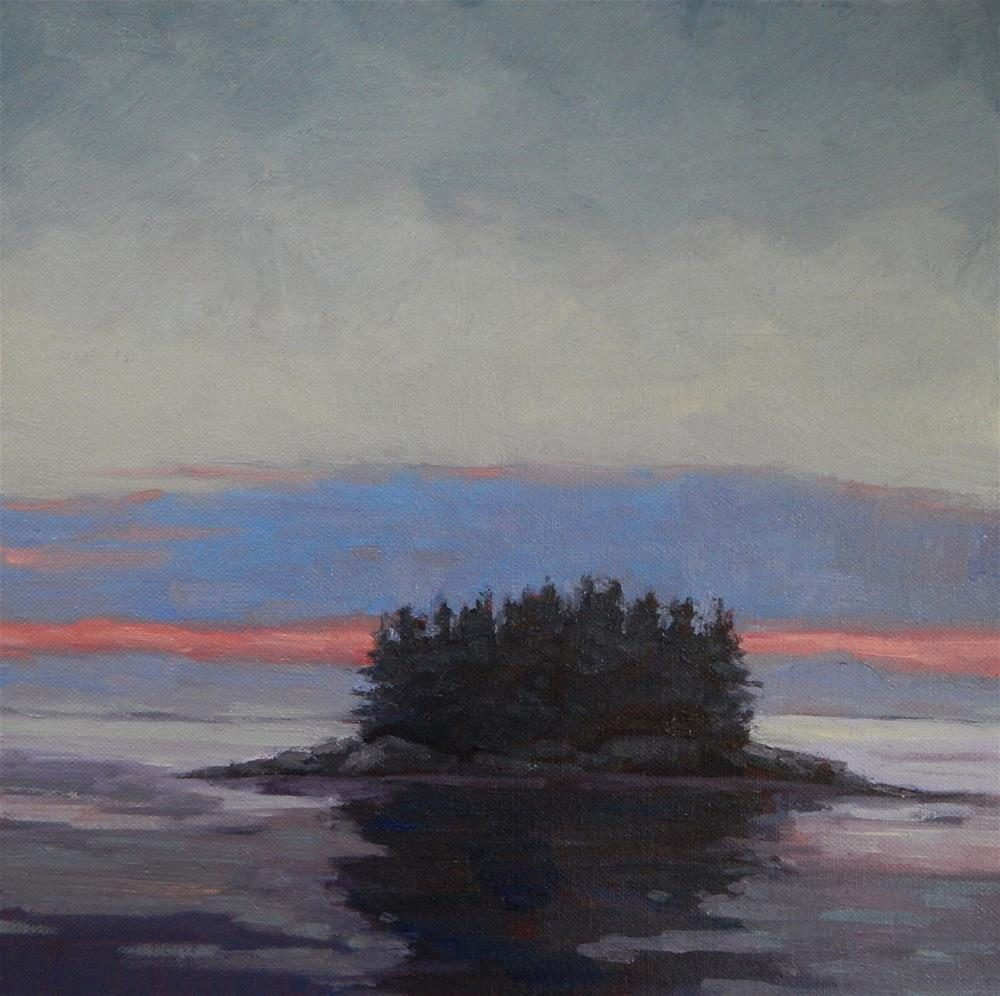 """Maine Dusk"" original fine art by Lisa Kyle"