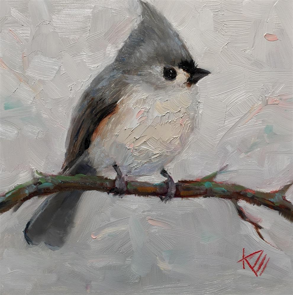"""Titmouse"" original fine art by Krista Eaton"