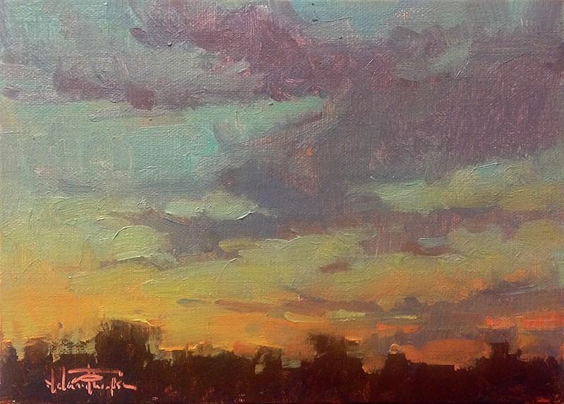 """McNary Sunrise II"" original fine art by Melanie Thompson"