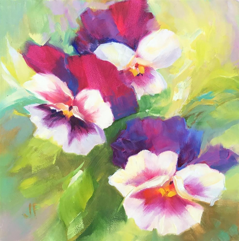 """Pansies"" original fine art by Charlotte Fitzgerald"