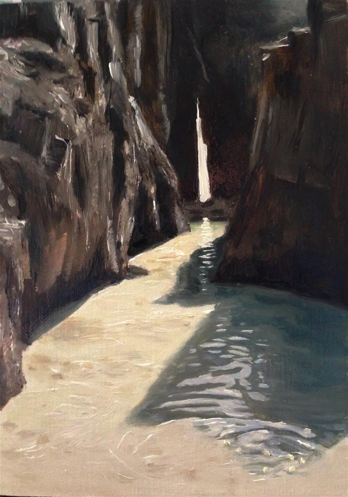 """Nanjizel, Cronwall"" original fine art by James Coates"